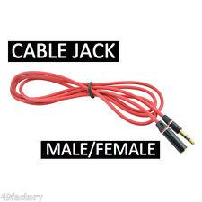 Prise JACK Male Femelle   / CABLE CORDON AUXILIAIRE AUDIO STEREO Adaptateur 1,1m