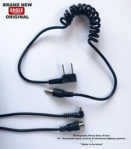 NEW 16 Foot Straight HH to PC Synch Sync Cord / Universal Eagle Original