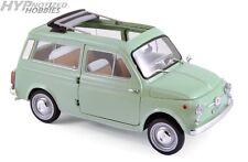 NOREV 1:18 1962 FIAT 500 GIARDINIERA DIE-CAST GREEN 187723