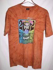 Bumbershoot T Shirt 2002 Seattle Brown Tie Dye LARGE Copa Banana Skeleton HA HA