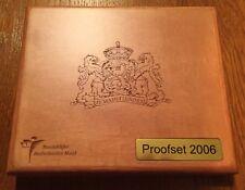 Proof Set Nederland 2006 in luxe houten box met originele verpakking