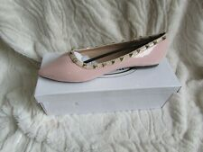 NEW PINK PATENT STUD BALLET SHOES SIZE 4/37
