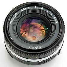 Nikon Nikkor 50mm f/1.8 AIS 'Pancake' super sharp lens. Exc+. See test pics.