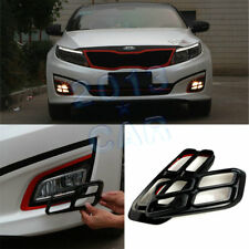 For Kia K5 Optima 2014 4 Eyes Fog/DRL/Driving Light lamp Cover Glossy black  2pc