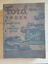 1948-54 Ford Truck Chassis Parts & Accessories Catalog Series Old Vintage Shop