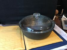 Vintage  WAGNER WARE #8 Cast Iron ChIcken Pot Glass Lid