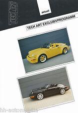 Bild-Prospekt Porsche 911 Speedster TechArt Exclusivprogramm 1994 Auto int Nr 12