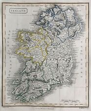 1828 Antique Map; Ireland - L. Hebert