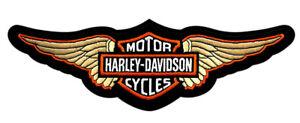 HARLEY DAVIDSON WING B&S 12.0 INCH RETRO JACKET VEST BACK PATCH
