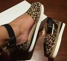 Oxford $169 💗Brand New Leather Espadrilles Shoes Flats Sandals 38 Or 7