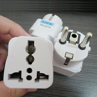 US AU UK to EU Europe AC Power Socket Plug Travel Charger Adapter Universal KJ