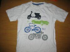 NWT Gymboree Auto Crew size 5T White Car Bike Top Shirt