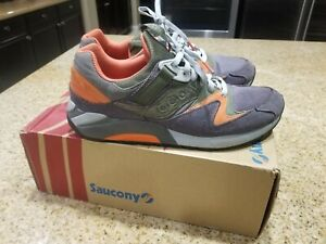 "Packer Shoes x Saucony Elite Grid 9000 ""Grey/Olive/Orange"" bodega ubiq freaker"