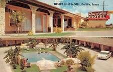 Del Rio Texas Desert Hills Motel Multiview Vintage Postcard K24249