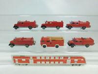 BK47-0,5# 6x Wiking H0/1:87 Feuerwehr/FW Magirus Deutz, 2. Wahl/Bastler