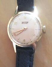 Tissot Vintage Ladies Gold Watch with black strap