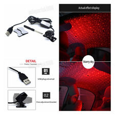 USB LED Car Atmosphere Star Light Red Lamp Armrest Box Projector for Car Party