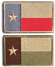 Bundle 2 Pieces - Tactical American US Texas Lonely Star Flag Patch With Velcro