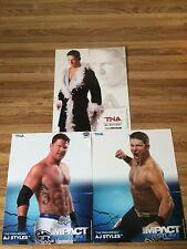 AJ STYLES TNA Impact Wrestling Promo Photo 8x10 Lot of 3 different P-1 WWE