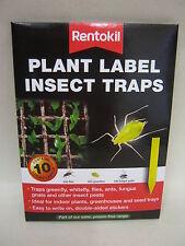 New Rentokil Sticky Plant Label Insect Traps Kills Flies Greenfly Whitefly Pk10