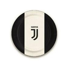piatti juventus 8 pz 18cm juve bianco nero decorazione tavola squadre calcio