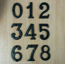 HEAVY BLACK ANTIQUE IRON HOUSE DOOR NUMBER NUMERALS NUMBERS 3""