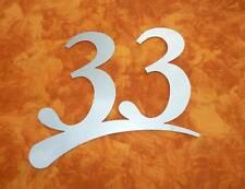 Hausnummer Edelstahl V2A  cm 3 mm! Zweistellig Neu