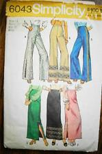 Vintage Simplicity Pattern Pants Skirts Sewing 1973 Sz 14 6043