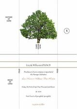 Personalised Wedding Invitations Gatefold Cards - 50 A5 invites with envelopes