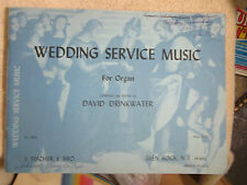 Wedding Service Sheet Music Organ Drinkwater 1969 Siciliano Rigaudon Bridal