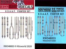 Kits World Decals 1/48 3D Seat Belt Set for U.S.A.A.F. Wwii Fighters