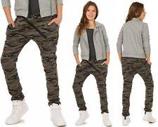 Mädchen Hose Baggy Zip Camouflage 116-158 hk221