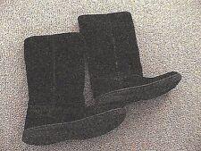 women's winter boots suede mid calf  faux fur inside black flat soles size 8