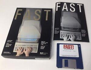 "Vintage FAST IBM Tandy Utility Software 3.5"" Disk & Manual: Bloc Publishing DOS"