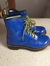 Doc Martens Patent Blue Leather Uk4/37 Excellent Condition 1460 Ladies Boots