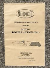 Microtech Knife MTX2 D/A Manual Booklet - Used