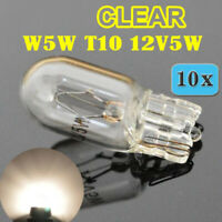 10x 501 W5W T10 Halogen Clear White 12V 5W Car Head Light Lamp Globes Bulbs Park