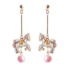 1pair carrousel horse pendant earrings,merry-go-round horse pendant ear rings
