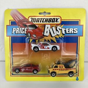 RARE Vintage 1993 Matchbox Price Busters 3 Car Blister Pack Tow Truck Alfa Rally