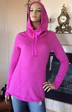 LUCY Activewear Women Pink Dawn Heather Dance Workout Hooded Pullover NWT Size L