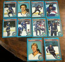 1979-80   TOPPS  BUFFALO SABRES  10 card team lot