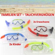 STRANDURLAUB 4x Schnorchelset Erwachsene Kinder Taucherbrille Tauchmaske 2+2