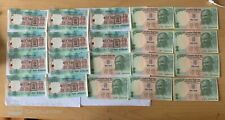 Collection 20 no. consecutive uncirculated Rs 5 Indian Rupees notes after 1990