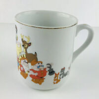 Rare Disneys Snow White And The Seven Dwarfs With Animals Made In Japan Mug