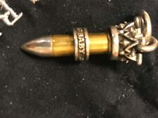 KING BABY .25 CALIBER BULLET CARTRIDGE PENDANT .925 STERLING SILVER