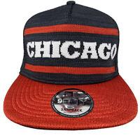New Era NBA 9Fifty CHICAGO BULLS Black Red Chicago Knit 950 Snapback Hat Cap