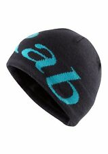 Rab Logo Beanie Hat. One Size. Colour - Ebony (Grey/Blue)