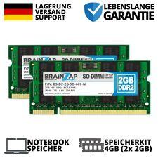 4GB 2x 2GB DDR2 RAM PC2-5300S 2Rx8 667MHz Notebook Laptop Speicher CL5 Intel AMD