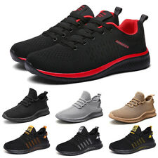 Mens Lace Up Running Sneakers Outdoor Fashion Walking Tennis Casual Shoes Size9