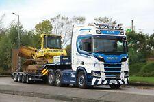 Colour photograph truck photo of TCS SHROPSHIRE SCANIA MK67NHY HEAVY HAULAGE